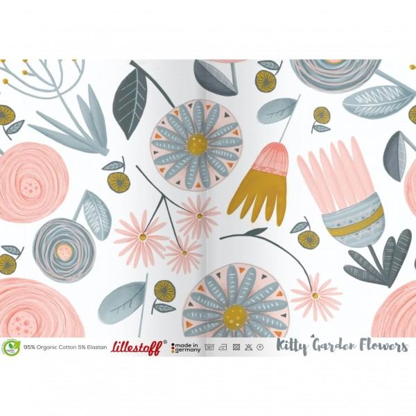 "BIO-French Terry ""Kitty Garden Flowers"""