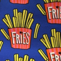 """Bomuldsjersey """"Fries"""" blå fra Hilco"""