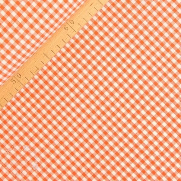 Bomuld ternet orange/hvid