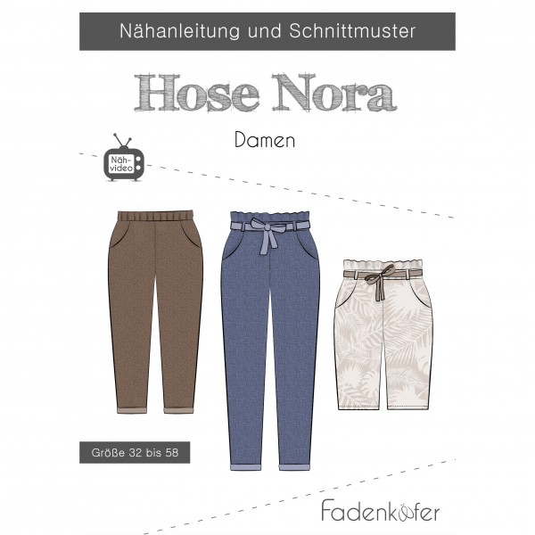 "Snitmønster Dame-Bukser ""Nora"" str 32 - 58"