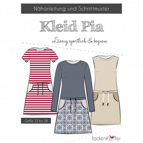 """Snitmønster Kjole """"Pia"""" Dame str 32 - 58"""