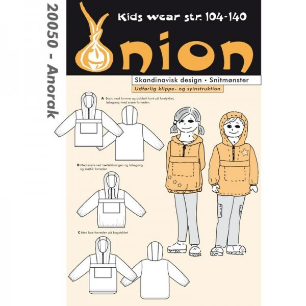 "Snitmønster Onion Kids Wear 20050 ""Anorak"" str..."