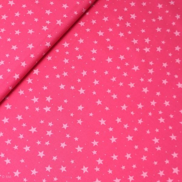 """Bomuld """"Junge Linie"""" pink med stjerner"""
