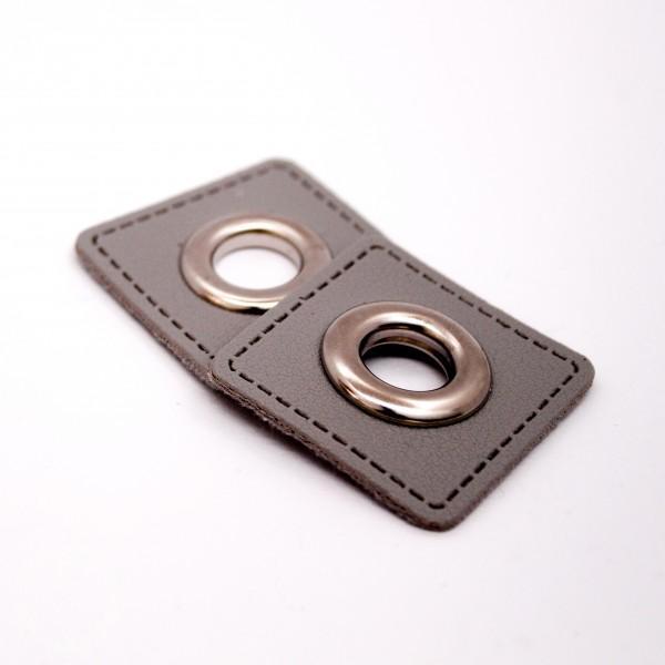 Snørehuller-Patch - imiteret læder