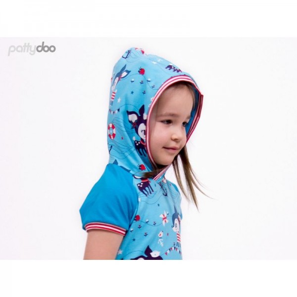 "Snitmønster Pattydoo Børne-Raglan-Shirt ""Leo"" str 92 - 146"