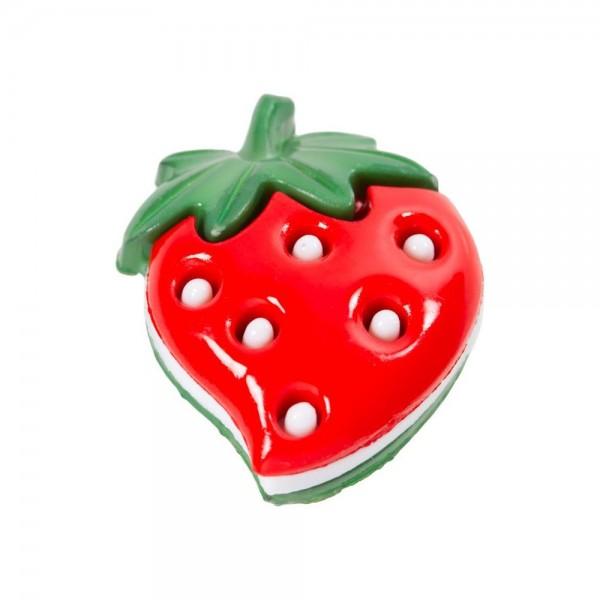"25 mm Oje-Knap ""Jordbær"""