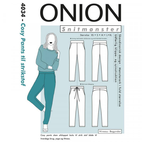 "Snitmønster Onion 4034 ""Cosy Pants til..."