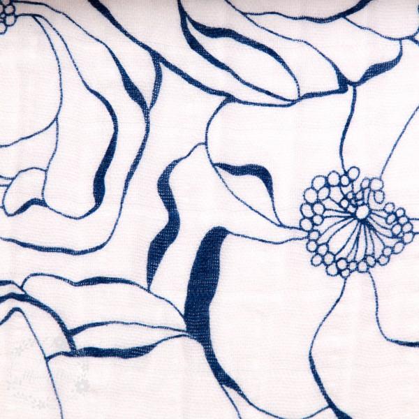 Double Gauze med blomster