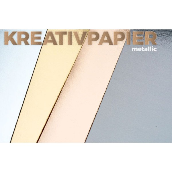 "Kreativ papir kollektion ""Metallic"""