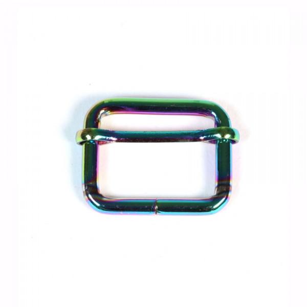 Metalspænde 25 mm regnbue