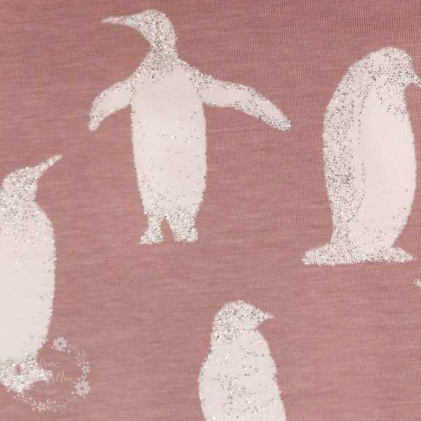 "Bomuldsjersey ""Pingvin"" med glitter"