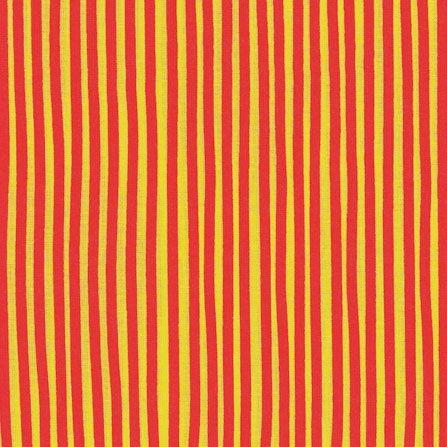 "Bomuld ""Junge Linie"" striber gul-rød"