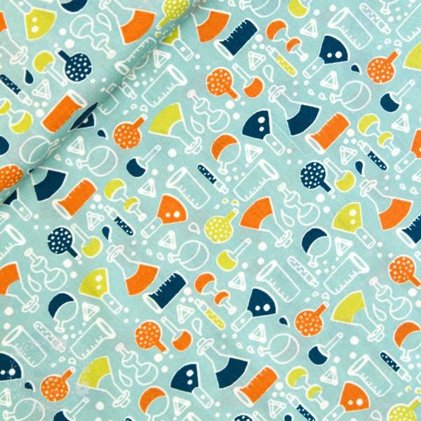 """BIO-Bomuld """"Robotic"""" 1 fra Birch Fabrics"""