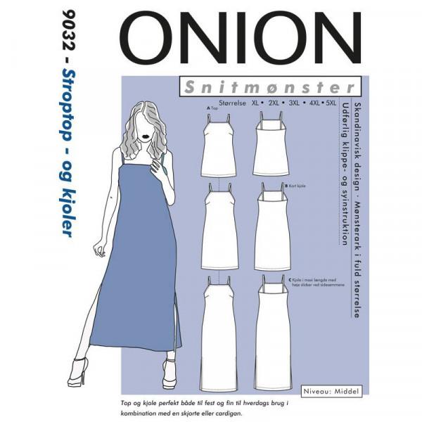 """Snitmønster Onion 9032 """"Stroptop- og kjoler""""..."""