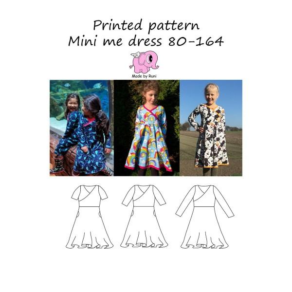 """Snitmønster til børn """"Mini Me Dress"""" str 80 - 164"""