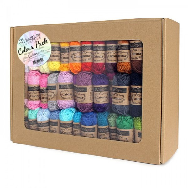 "Scheepjes ""Catona Colour Pack"" 109 x 10g"