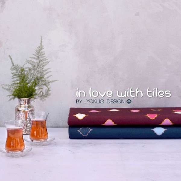 "Viscose-Jersey kollektion ""In love with Tiles"" by Lycklig Design"