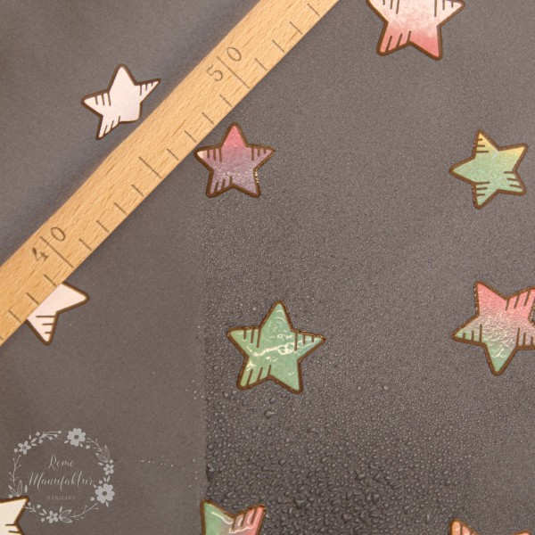 "Magic-Softshell ""Rainbow-Stars"" lyserød"