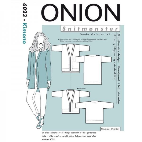 "Snitmønster Onion 6023 ""Kimono"" str XS - XL"