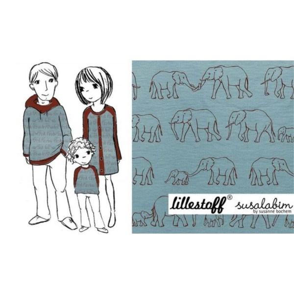 "BIO-Bomuldsjersey ""Elefantenparade"" by susalabim"