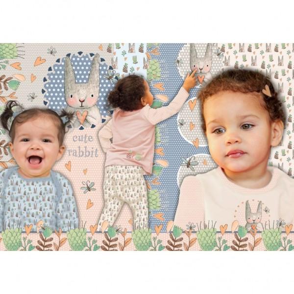 "115 cm Jersey-Panel ""Cute rabbit"" by Stenzo"