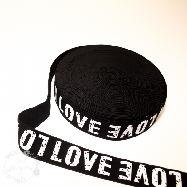 """38 mm Elastikbånd kollektion """"Love"""""""