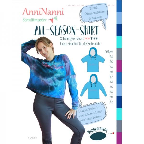 "Snitmønster Dame-Shirt ""All-Season-Shirt"" str..."