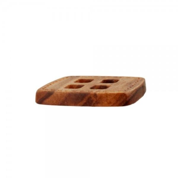 """4-hul-træ-knap """"Firkant"""" 25 mm"""