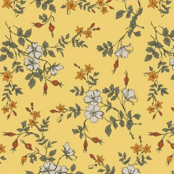 """Bomuldsjersey """"Avalana"""" 19-681 blomster"""