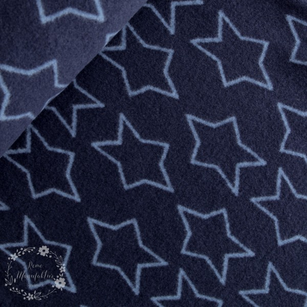 Uld-Fleece blå med stjerner