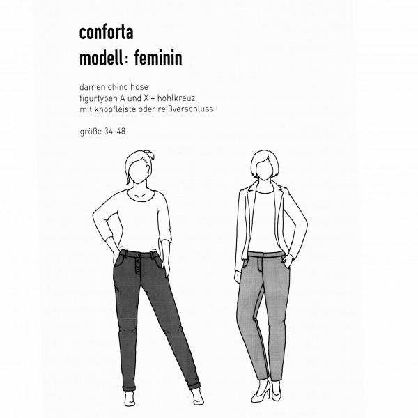 """Snitmønster Dame-Bukser """"Conforta - modell..."""