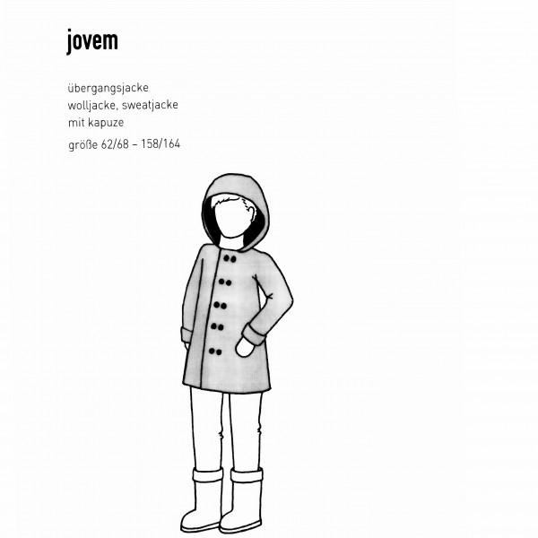 "Snitmønster Børns-Jakke ""Jovem"" str 62/68 -..."