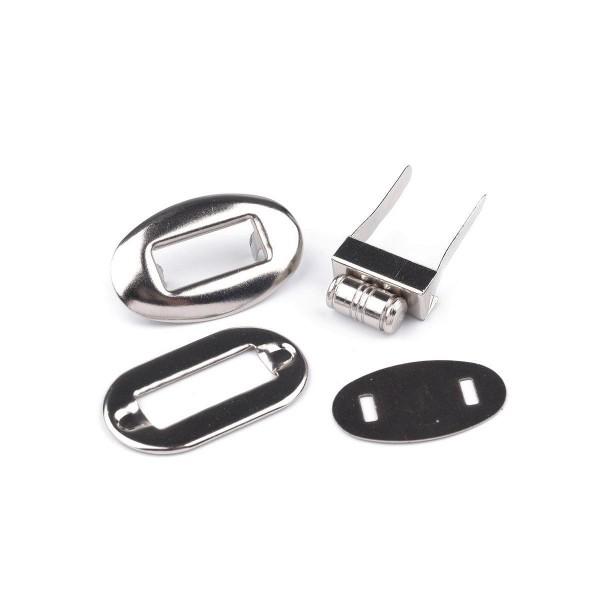 Drejelås / Taskelås 20 x 32 mm sølv