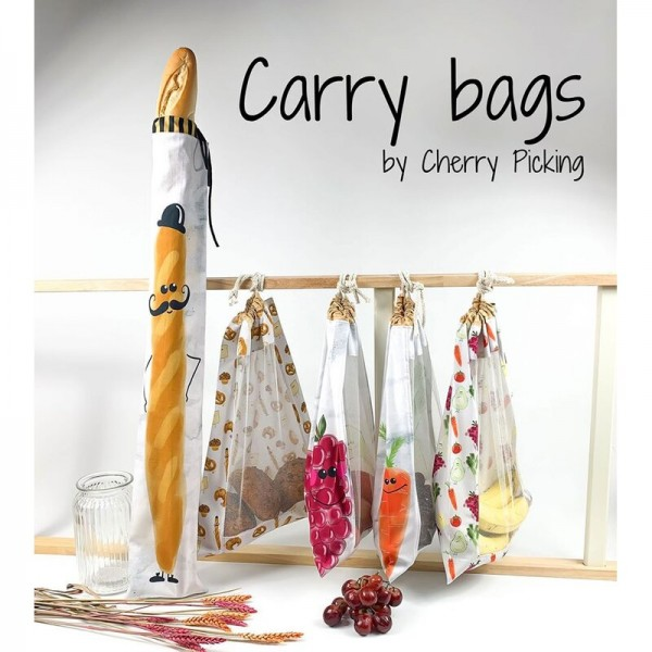 "100 cm Bomuld-Panel ""Carry Bags"" fra Cherry..."