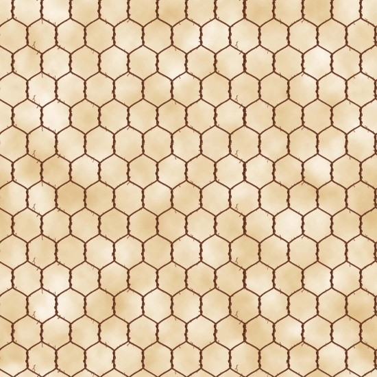 "Bomuld ""Old Farmstead"" Chicken Wire cream"
