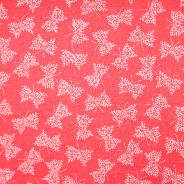 "Bomuld ""Little Thicket"" Butterflies 14527-PINK"