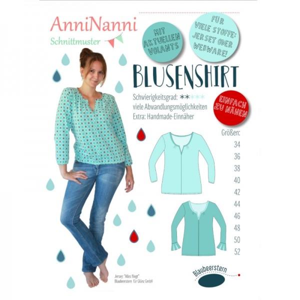 "Snitmønster Dame-Shirt ""Blusenshirt"" str 34 - 52"