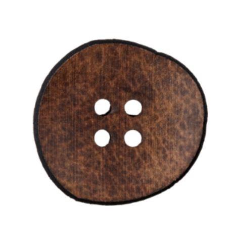 """4-hul-polyester-knap """"Genanvendt Læder"""" (23mm)..."""