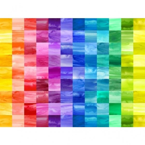 "Bomuld ""Color Mood"" Large Squares 10x10 cm"