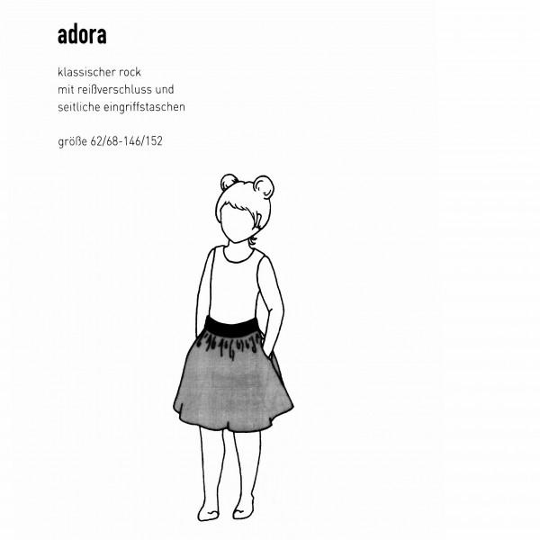 """Snitmønster Børns-Nedderdel """"Adora"""" str 62/68 - 146/152"""