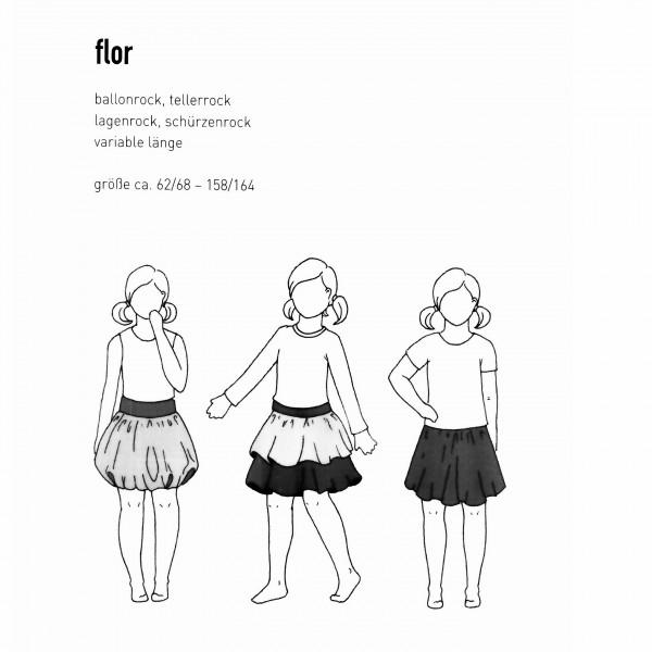 """Snitmønster Børns-Nedderdel """"Flor"""" str 62/68 - 158/164"""