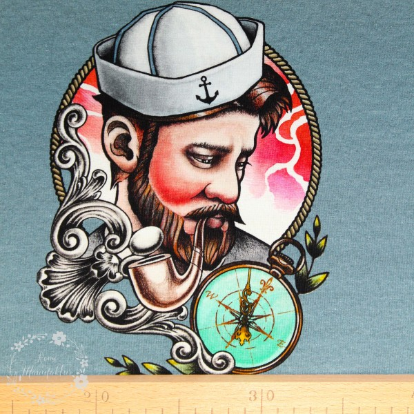 "90 cm Bomuldsjersey-Panel ""Sailor"""