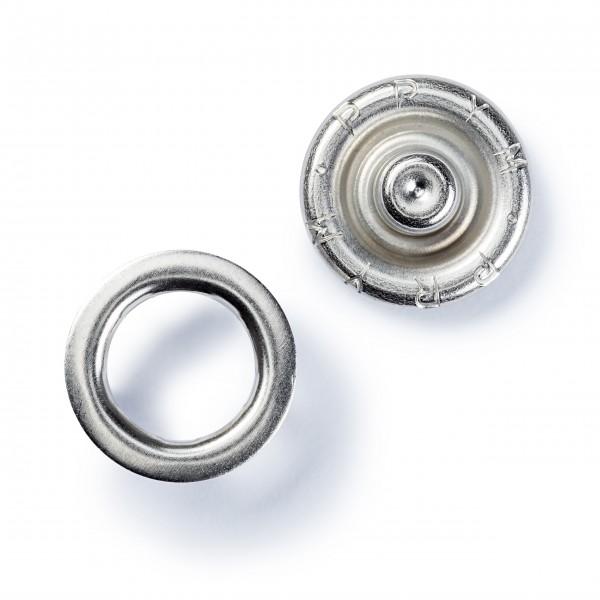 20 Jersey-Trykknapper sølv Ø 10 mm