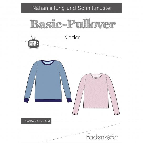 "Snitmønster Kids-Trøje ""Basic-Pullover"" str 74..."