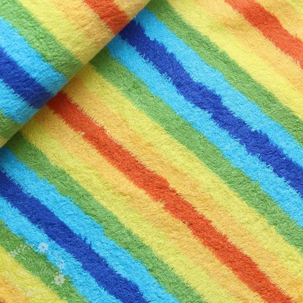 Frotte med farverige striber