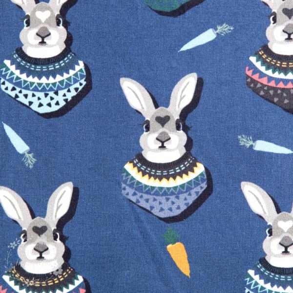 "Bomuldsjersey ""Autumn Bunny"" by Lila-Lotta, blå"
