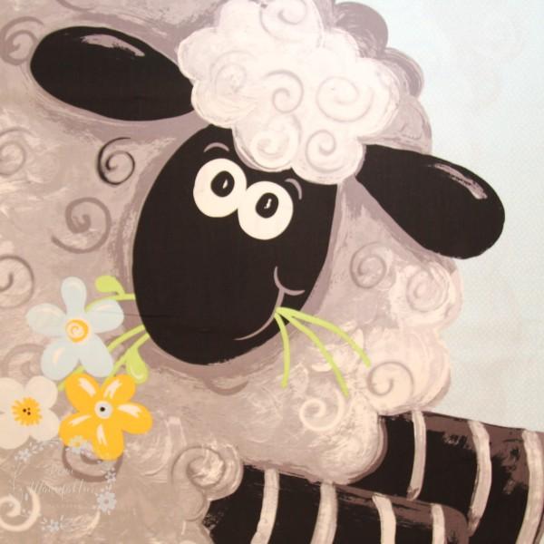 """90 cm Bomuld-Panel """"Lewe the Ewe"""""""