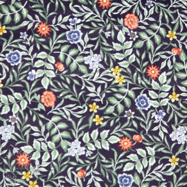 "Bomuldspoplin ""Tiny flower"""