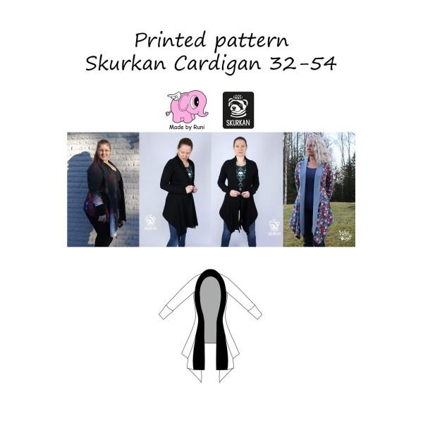 "Snitmønster til kvinder ""Skurkan Cardigan"" str 34 - 54"