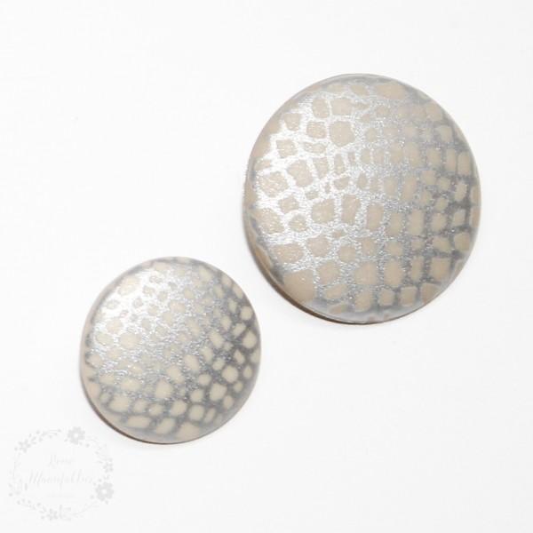 Oje-Knap sølv-guld Ø 15mm eller Ø 20mm